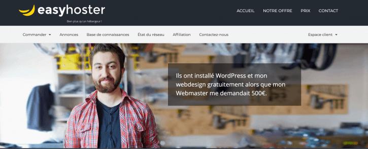 EasyHoster, hébergement web premium WordPress