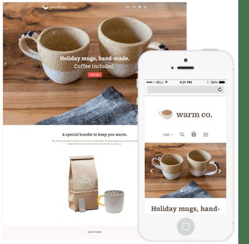 Exemple de thème Shopify